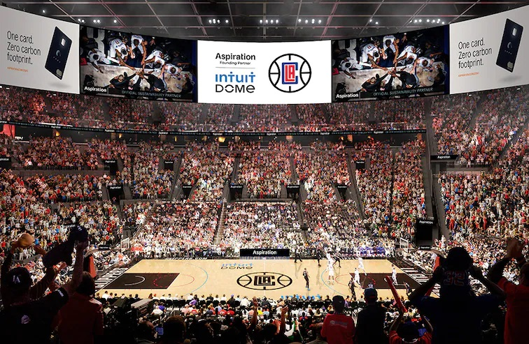 LA Clippers Partner with Green Finance Company Aspiration on the First Climate Positive Arena